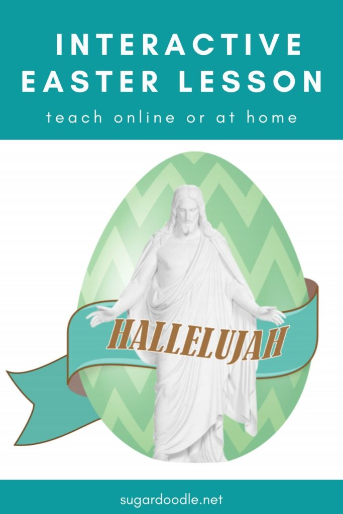 Easter is a beautiful time for Christian families to gather and learn about Jesus Christ. This simple lesson outline, with free printables, is perfect for an interactive lesson at home or with extended family online.