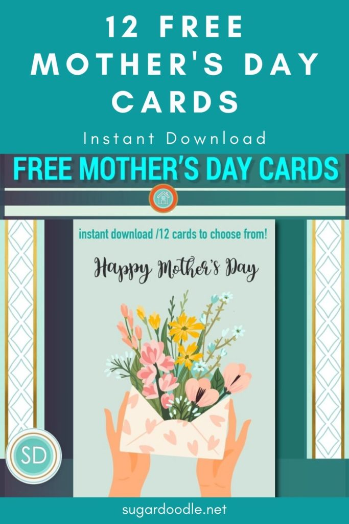 These 12 free Mother's Day cards are professionally designed and available for instant download. Enjoy!