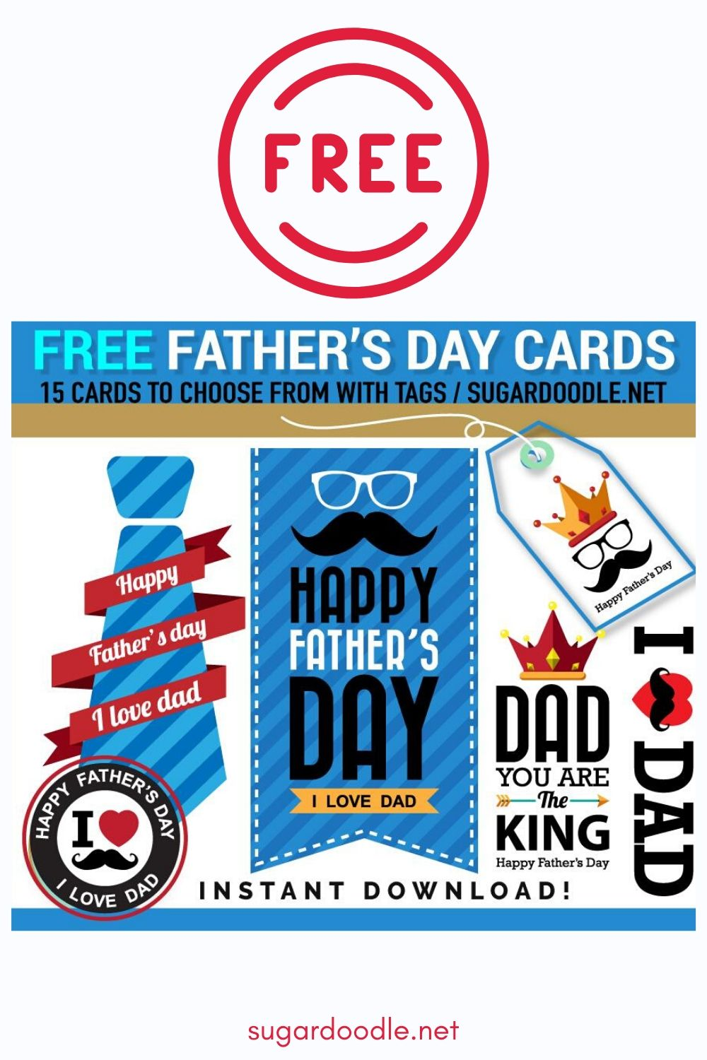 We have LOTS of FREE Father's Day cards and gift tags to choose from. Just download and print. #fathersday #fathers #cards #dad