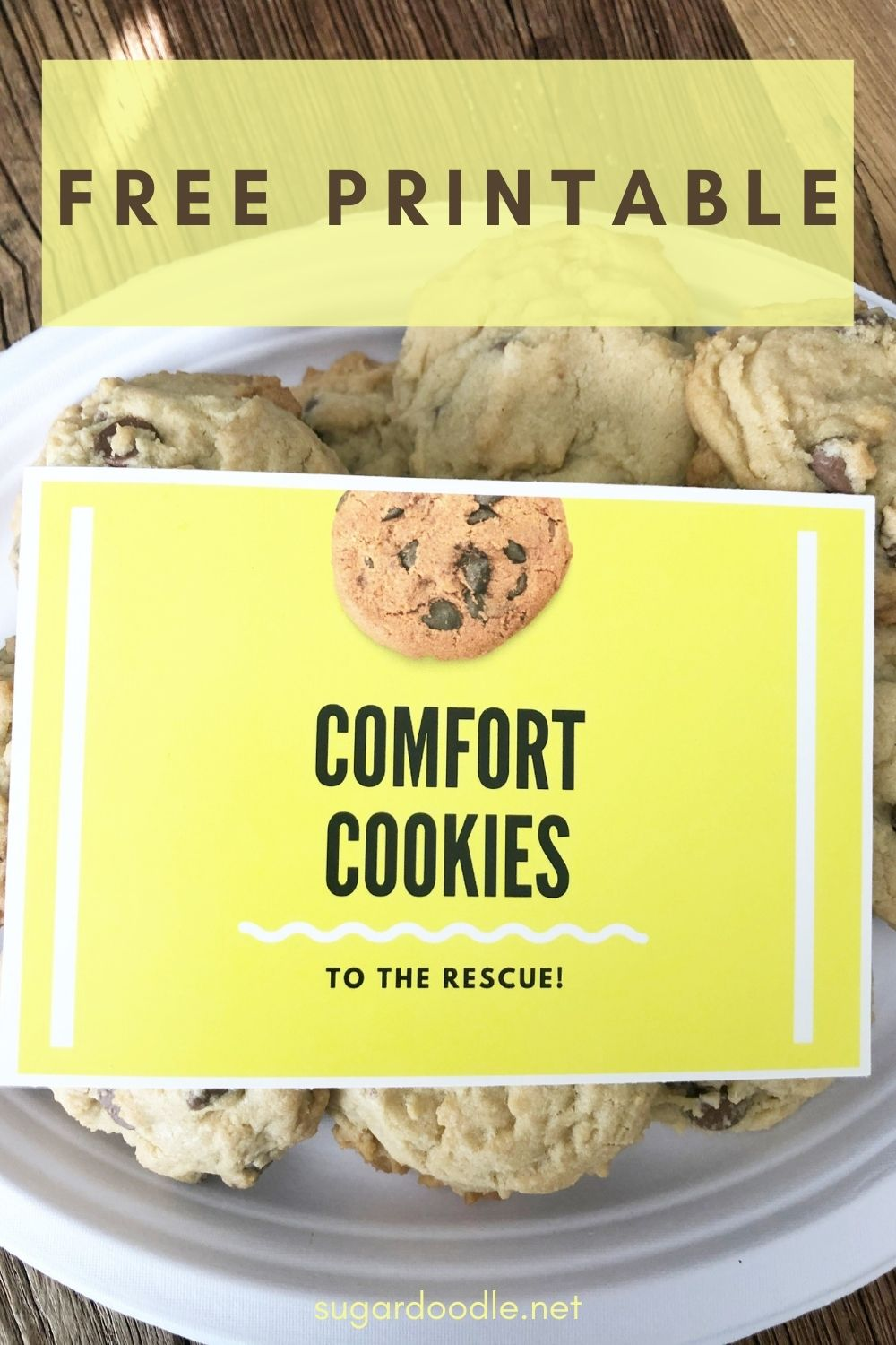 Next time you deliver a plate of cookies to someone, attach this cute note card and write a personal note on the back. #freeprintable #card #service